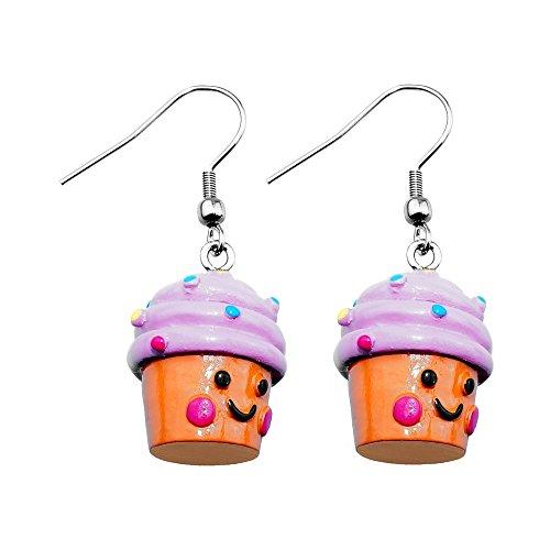 Treuheld | Cupcake Ohrringe/Ohrhänger - süße Muffin Hänger fürs Ohr