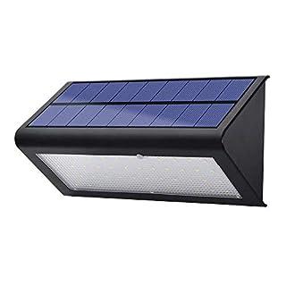 lexonelec (900Lumen, solarbetriebenes Licht, 48LEDs, wasserdicht, mit Radar-Bewegungsmelder, 4Modi, für Terrasse, Deck, Hof, Garten, Weg, Einfahrt, Treppen, whitedoor, Schwarz 2.50W