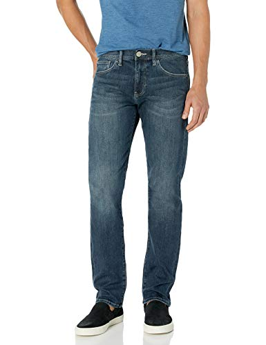 Armani Exchange A|X Herren Medium Wash Straight Fit 5 Pocket Pant Jeans, Denim Indaco, 56 Regulär -