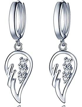 Unendlich U Fashion 925 Sterling Silber Damen Ohrhänger Engelflügel Zirkonia Ohrringe Earrings
