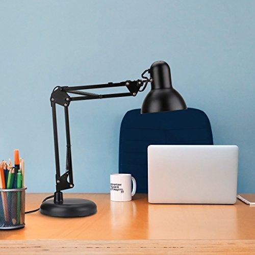 confronta il prezzo LE lampada da tavolo classica con Base + Morsetto a C Attacco Regolabile Luce da lavoro per Leggere Studiare Disegnare lampadine E27 miglior prezzo