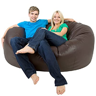 Bean Bag Bazaar Monster Double Faux Leather Two Seater Giant Bean Bags - XXXL Beanbag Sofa for 2