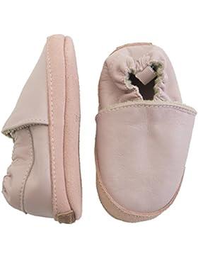 Melton Baby Mädchen Krabbelschuh Basic aus Weichem Leder