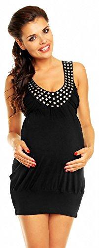 Zeta Ville - maternité - robe boule - de grossesse - tunique - femme - 024c Noir
