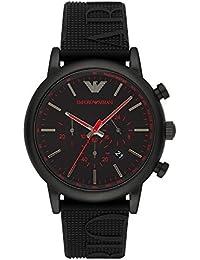 e7274dde8 Emporio Armani Men's Luigi AR11024 Black Silicone Quartz Dress Watch