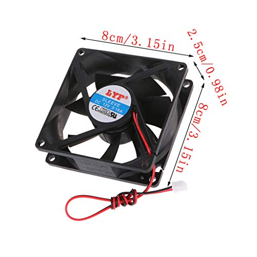 80x80x25mm PC Computer CPU System Kühlkörper Bürstenloser Lüfter 8025 ()