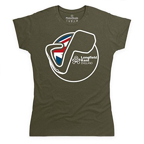 PistonHeads Longfield T-Shirt, Damen Olivgrn