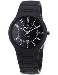 Skagen herren armbanduhr xl chronograph quarz leder 856xlbln