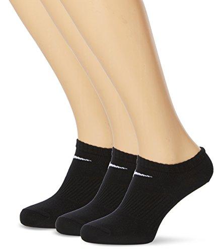 Tennis-schuhe Socke (Nike Herren Socken Lightweight No Show 3er Pack, SX4705-001, Schwarz (Black/White), Gr. 38-42 (M))