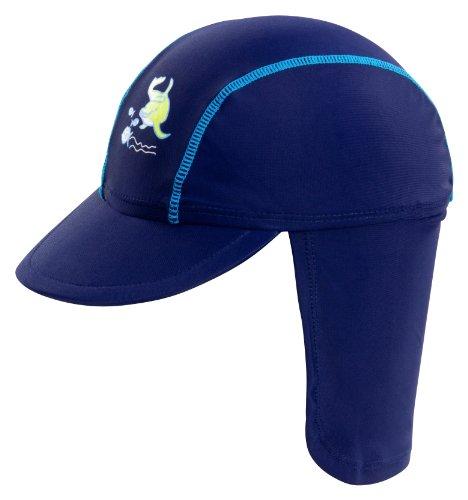 Landora®: UV-Schutz 50+ Kappe/Mütze in blau - Baby-Badebekleidung mit Oeko-Tex® Standard 100