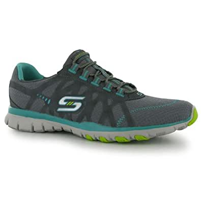 Skechers Womens Eclisp Hype Ladies Charcoal/Green 2.5