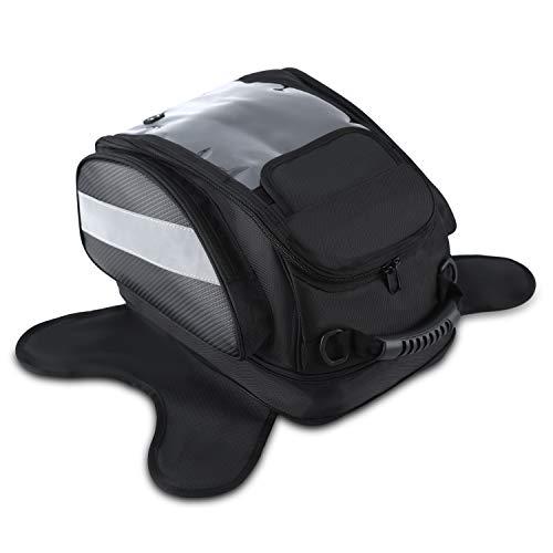 f87c528ec8 Magnético Depósito Bolsos del Tanque Hombre para Moto Impermeable Alforjas  Asiento Viaje Caja de Deporte al Aire Libre Bolsa Portaequipaje Oxford  Negro para ...