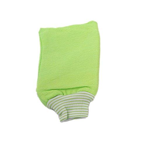 LissomPlume Gant De Bain Exfoliant Uni Couleur Gant De Toilette Mousseuse Bain Douche vert