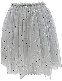 e4c80f36ce26d YFCH Jupe Tutu Enfant Fille Tutu Jupe en Tulle Soirée Elastique Mini Robe  Jupon Petticoat Ballet