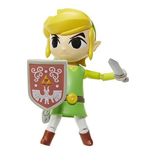 World of Nintendo 91453 4 Link Wind Waker HD Action Figure by World of Nintendo