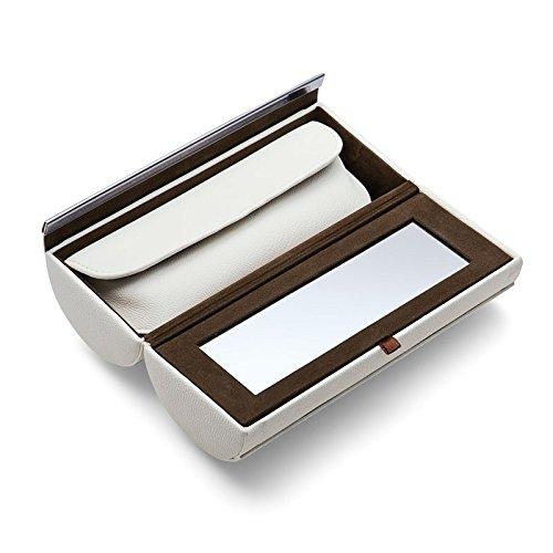 Philippi Design Schminkbox 128064 Donatella - echtes Kalbsleder weiß - zusätzliches Mäppchen für Schmink-Utensilien (Leder-lippenstift-halter)