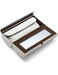 Philippi Design Schminkbox 128064 Donatella - echtes Kalbsleder weiß - zusätzliches Mäppchen für Schmink-Utensilien