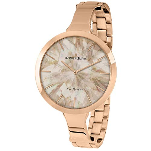 Jacques Lemans La Passion Femme 44mm Rose Quartz Montre 1-2032I