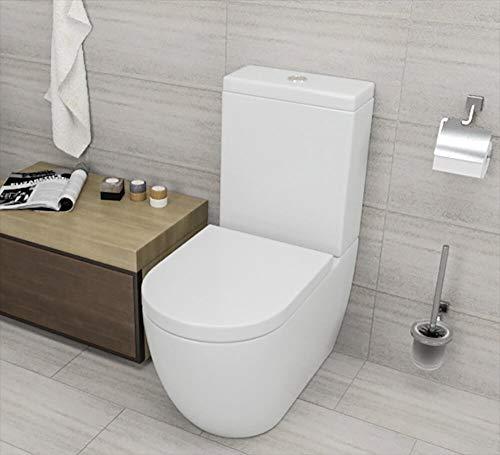 vorich WC con Cassetta Esterna in Ceramica 38x55x33 Cm Vortix Bianco