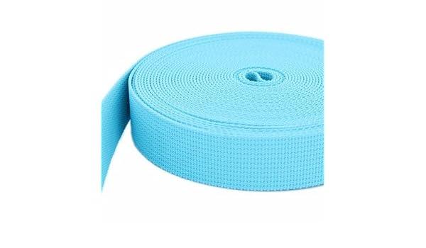 UV türkis 20mm breit 1,2mm stark 10m PP Gurtband