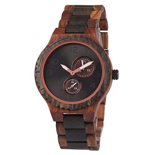 SailorMJY Holz Uhr, Holzuhr Holz, Hölzerne Armbanduhr der hölzernen Uhr Männer hölzerne Uhr-Quarz-Uhr, Geschenk (Hölzerne Männer Armbänder)