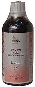 BRAHMI OIL - 100ml (USDA Certified Organic) | Ayurvedic Herbal Massage Oil for Relaxing the Mind - Made with 100% Certified Organic Herbs