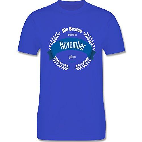Geburtstag - Die Besten werden im November geboren - Herren Premium T-Shirt Royalblau
