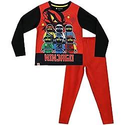 Lego Ninjago Pijamas de Manga Larga para niños Rojo 6-7 Años