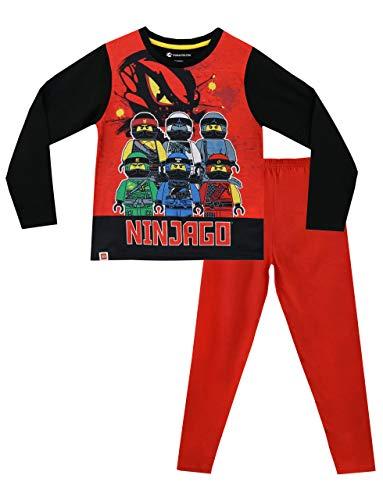 LEGO Ninjago Jungen Schlafanzug Slim Fit, Rot, 116 (Herstellergröße: 5 - 6 Jahre)