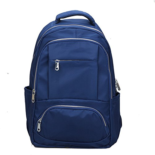 Mefly Il Nuovo Oxford Borsa Di Stoffa Multi Pocket All-Match Moda Capacità Grande Blu blue