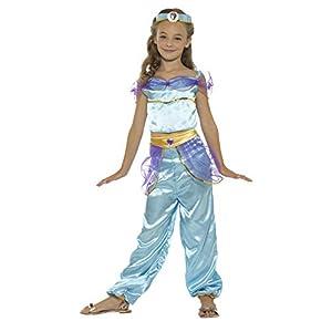 SMIFFYS Costume Principessa araba, azzurro, con top, pantaloni e copricapo