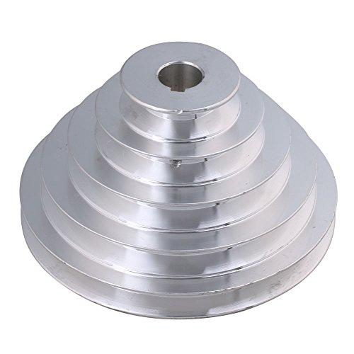 bqlzr 54mm bis 150mm Außen Dia 20mm Bohrung Breite 12,7mm Aluminium 5Schritt Pagode Pulley Gürtel für A Typ Keilriemen Zahnriemen