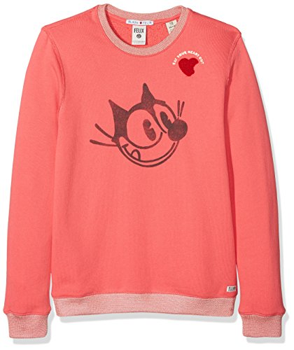 Scotch & Soda R´Belle Mädchen Sweatshirt Felix Ams Blau Crew Neck Sweat, Rosa (Raspberry 117), 104 -