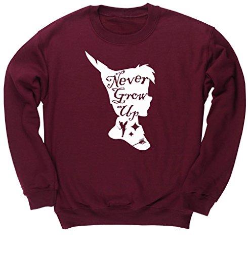 hippowarehouse-never-grow-up-pan-silhouette-unisex-jumper-sweatshirt-pullover
