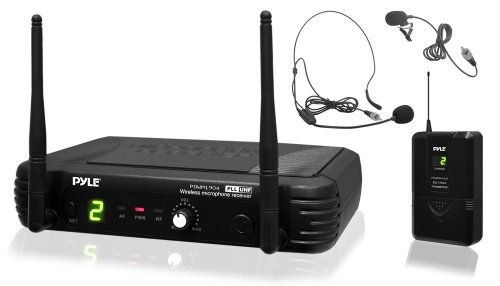 PYLE PDWM1904 PROFESSIONAL UHF WIRELESS BODY-PACK MICROPHONE MIC SYSTEM 1,5-v-dc-pack