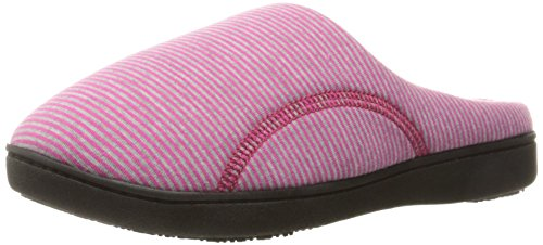 isotoner-womens-striped-jersey-athena-hoodback-slippers-tickle-pink-large-85-9-m-us