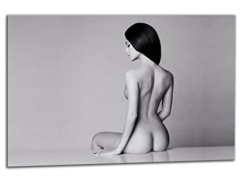 Preisvergleich Produktbild kunst-discounter Leinwandbild auf Keilrahmen A05233 MODERN Erotic S / W Deko 150 x 100 cm