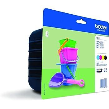 Brother Cartouche d'encre compatible avec Imprimante MFCJ880DW 1040 côtés Multicolore