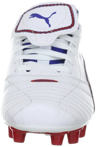 Puma Esito Finale i FG Jr 102014 Unisex - Kinder Sportschuhe - Fußball Weiss (white-ribbon red-limoges 07)