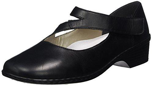 Rieker 48293, Ballerines Femme Noir (nero/schwarz / 00)
