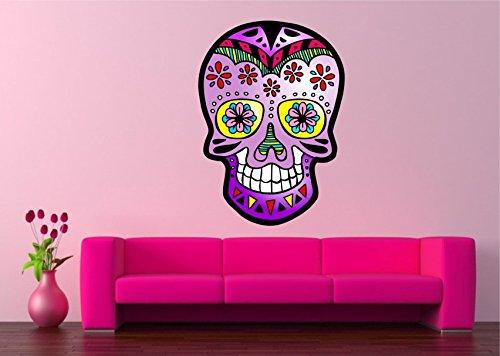 Diseño de calavera mexicana Rosa Calavera vinilo de pared...