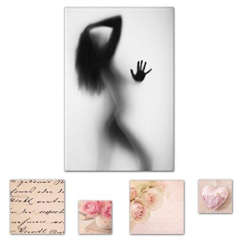 eco-light-wall-art-canvas-bundle-sensuale-sexy-ragazza-sotto-la-doccia-60-x-90-cm-per-arredamenti-e-