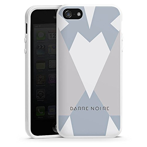 Apple iPhone 5 Housse étui coque protection Triangles Triangles Triangles Housse en silicone blanc