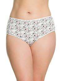 Ulla Popken Femme Grandes tailles Lot de 5 Culottes Coton Slips - Confortable 703217