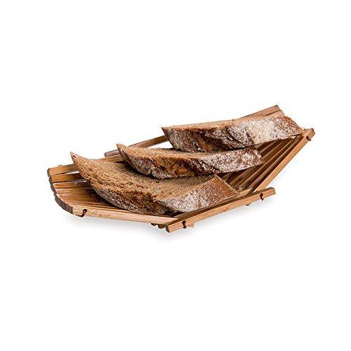 Cesta para pan, cesta de bambú para pan - diseño único - 16,5 cm - color natural - 1 caja - Restaurantware...