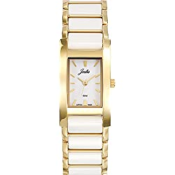 Joalia Women's Analogue Watch with White Dial Analogue Display and Stainless steel plated Bicolour - 631135