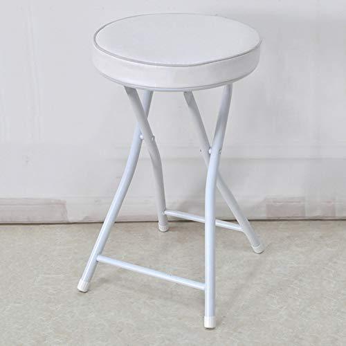 Klappstühle Hoher Hocker mit Rückenlehne Modern Minimalist Home, für Balkon/Bar/Arbeitszimmer/Wohnzimmer/Esszimmer,White -