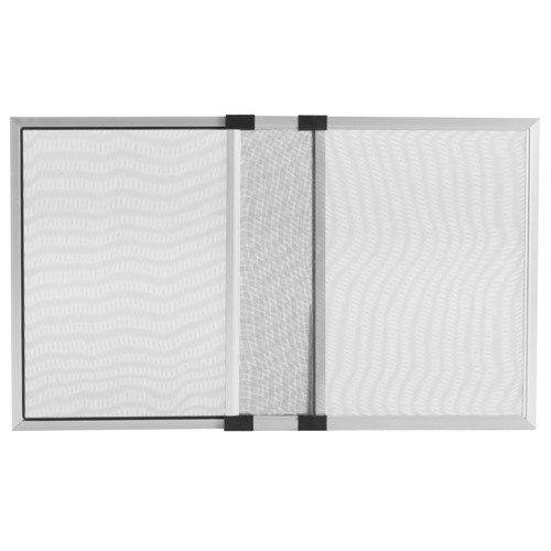 Maurer - zanzariera estensibile con telaio in alluminio anodizzato cm h 50x75/142