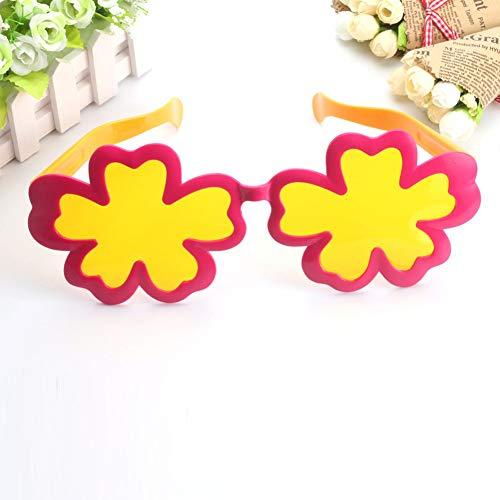 Sommer Beach Party Kostüm - Unbekannt Beach Party Kostüme Sonnenbrillen,Hawaiian Luau Geburtstag Pool Sommer Party Dekoration Lieferungen,Fünf Blütenblätter Blume