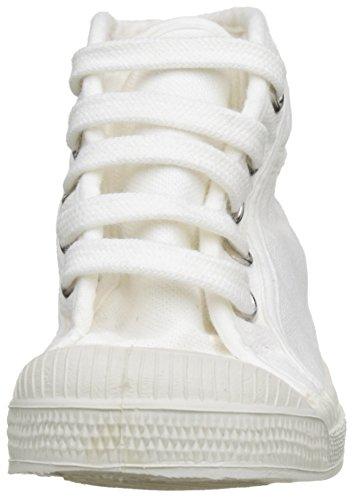 Bensimon Tennis Mid, Baskets Hautes Mixte Enfant Blanc (Blanc)